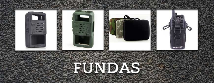 Fundas para walkie talkies de Baofeng.