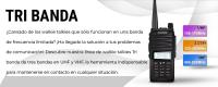 Los walkie talkies tri banda de la marca Baofeng